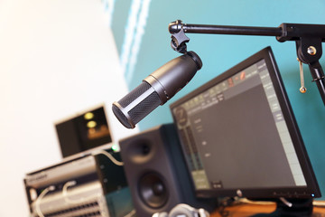 microphone in studio