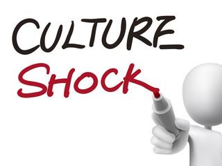 culture shock words written by 3d man