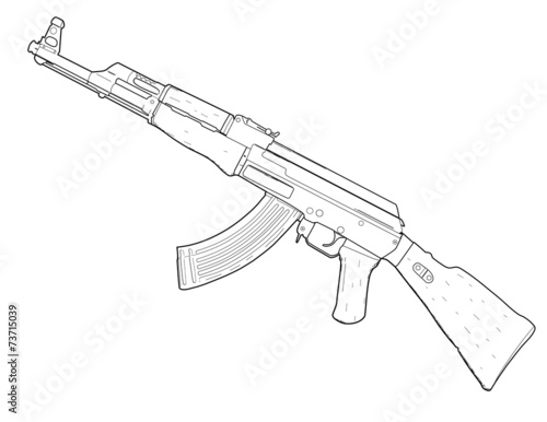 Pistool Kleurplaat Quot Weapon Ak 47 Quot Stock Image And Royalty Free Vector Files