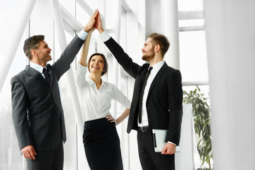 Business Team. Successful Business People Celebrating a Deal