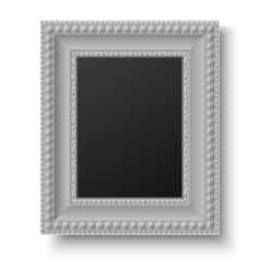 Vintage grey picture frame for text or picture