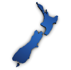 Canvas Prints New Zealand Map Of New Zealand 3d Shape