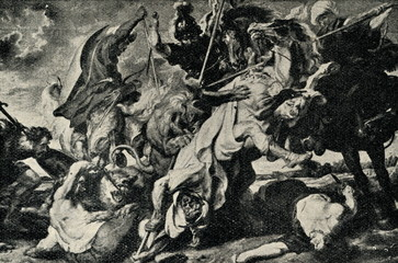 Lion hunt by Peter Paul Rubens