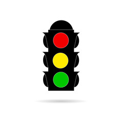traffic light color vector