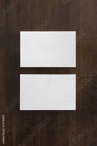 Blank business card mockup recycled paper stock photo and blank business card mockup recycled paper reheart Gallery