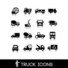 Truck black icon - Set 3