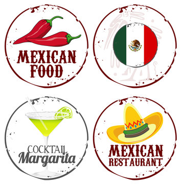 4 stamps mexican food