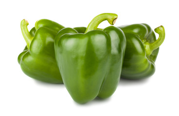 Three sweet green peppers