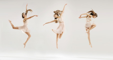 Multiple picture of the ballet dancer