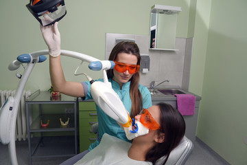 Patient in a dental treatment