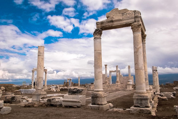 Ruins of Laodicea. Historical Background with Engaging Copy Space.