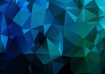 Dark  blue mosaik polygonal background