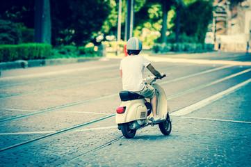Fotorolgordijn Scooter Scooter vintage