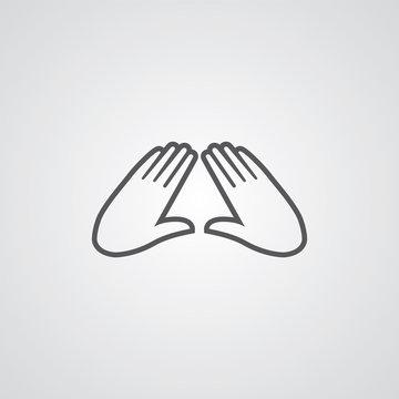 massage outline symbol, dark on white background, logo template.