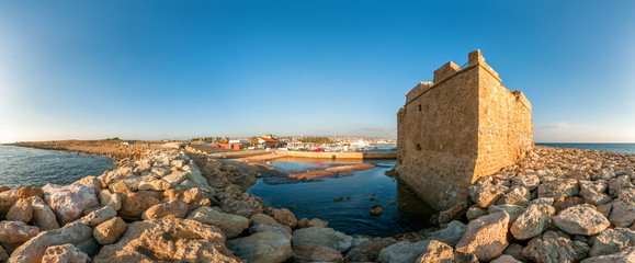 Keuken foto achterwand Cyprus Panoramic view of the Paphos Castle