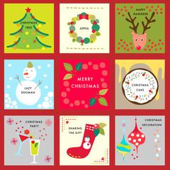 Christmas icon label vector design