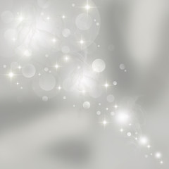 Abstract gray background with shining stars