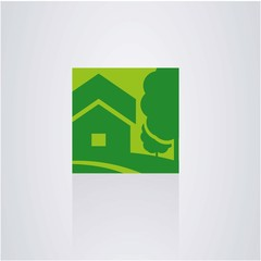 house logo. construction of nature