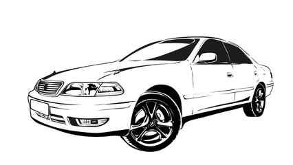 Papiers peints Cartoon voitures car auto japan old