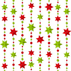 Seamless pattern with Christmas decorations