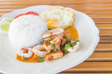 Seafood and Basil Stir Fry, Thai food