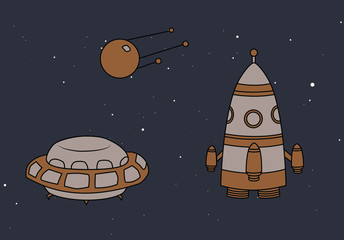 Drawing Space Objects Set