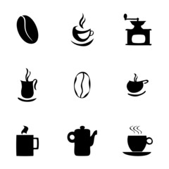 Vector coffe icons set