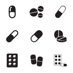 Vector pills icons set