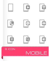Vector mobile icon set