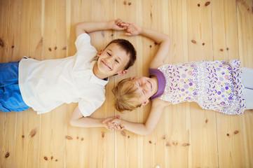 Kids on the floor