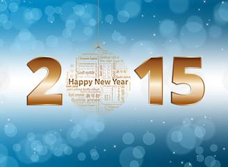 happy New year 2015 fond bleu et blanc