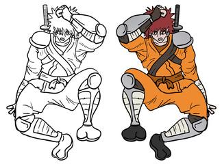 Draw samurai