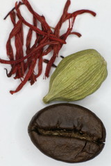 Coffee, cardamom and saffron