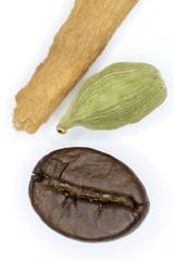 Coffee, cardamom and cinnamon