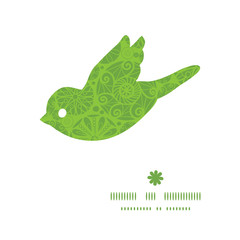 Vector abstract green and white circles bird silhouette pattern