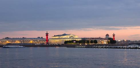 View on Neva River at sunset, Saint Petersburg