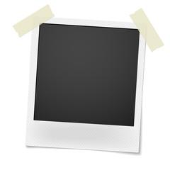 Blank retro photo frame isolated