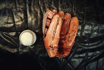 Baseball gant et balle