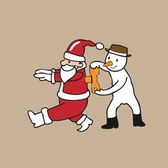 Snowman wind up Santa