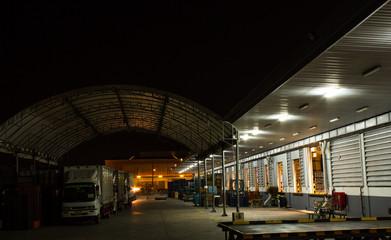 warehouse evening