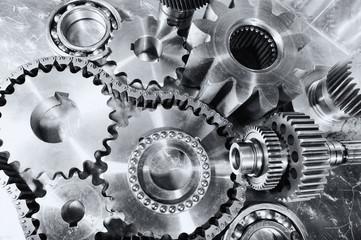 cogwheels, gears and ball-bearings