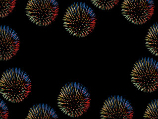 black frame wih firework