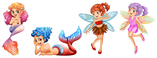 Mermaids and Fairies