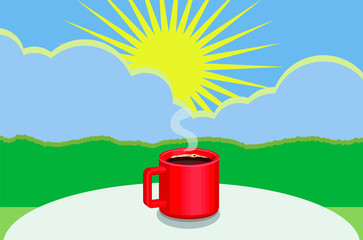 Good morning coffee image