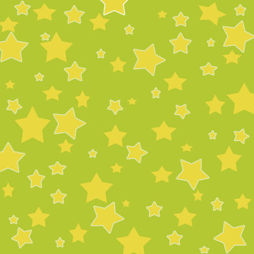 yellow stars on a green background