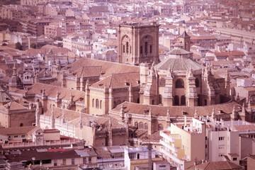 Granada, Spain. Cross processed color tone.