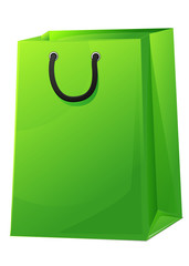 Sac shopping vert