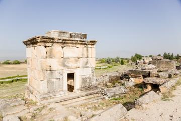 Pamukkale. Antique crypt in the necropolis of Hierapolis