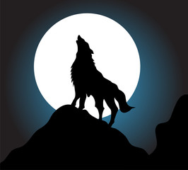 Wolf howl background