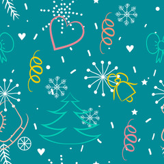 Christmas pattern in winter style.